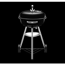 Compact Charcoal Grill 47Cm - Black