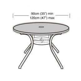 4-6 Seater Round Table Top Cover Black