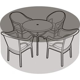 4-6 Seater Round Furniture Set Cover Black