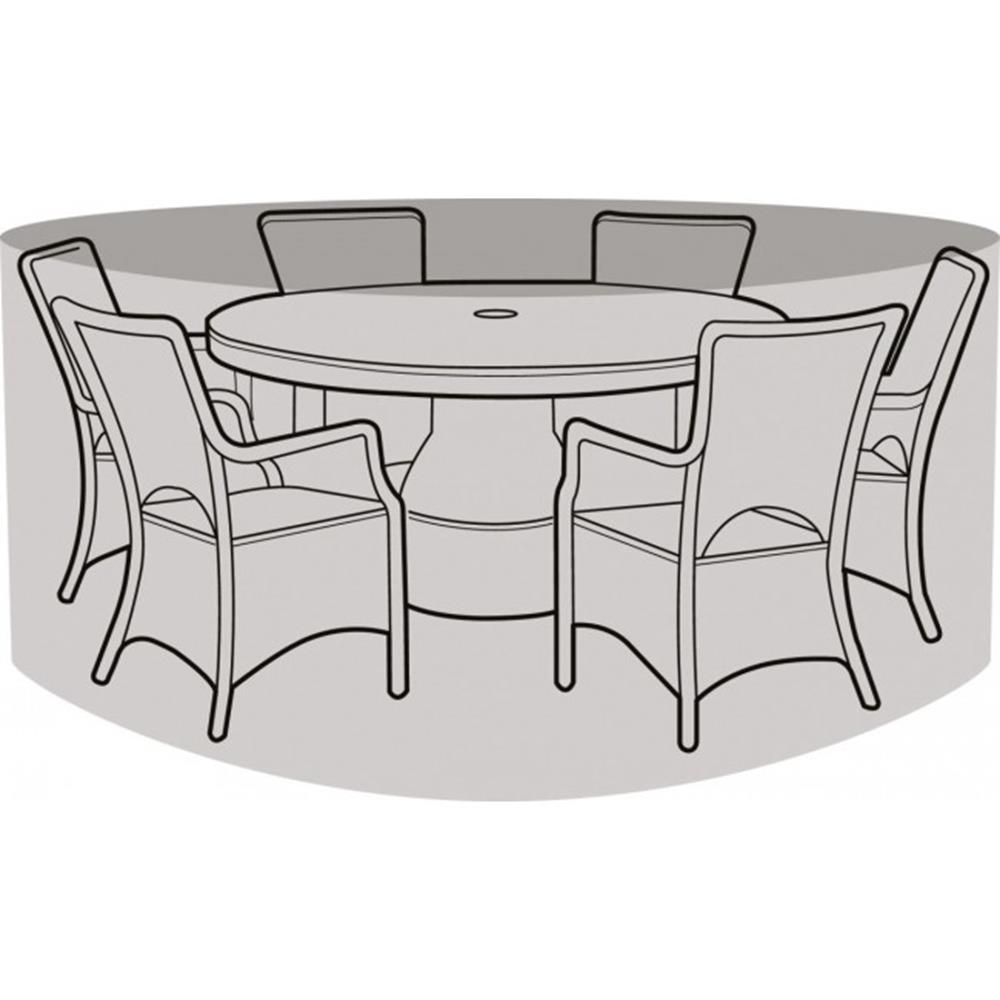 6-8 Seater Round Furniture Set Cover Black