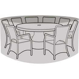 8 Seater Round Furniture Set Cover Black