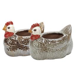 Glazed Hen Planter
