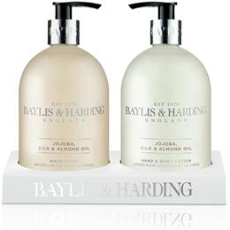 Baylis & Harding Jojoba, Silk & Almond Oil 2 Bottle Set In An Acrylic Rack