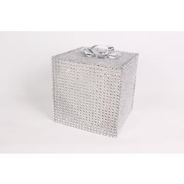 Sliver and Sparkly Christmas Present Box 12cm