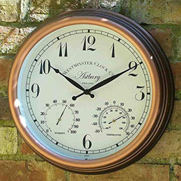 "Astbury Wall Clock & Thermometer 12"" 30Cm"
