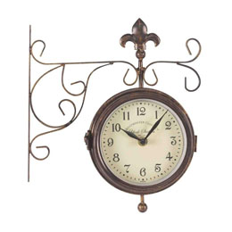 "Double Sided York Station Clock & Thermometer 6"" 15Cm"