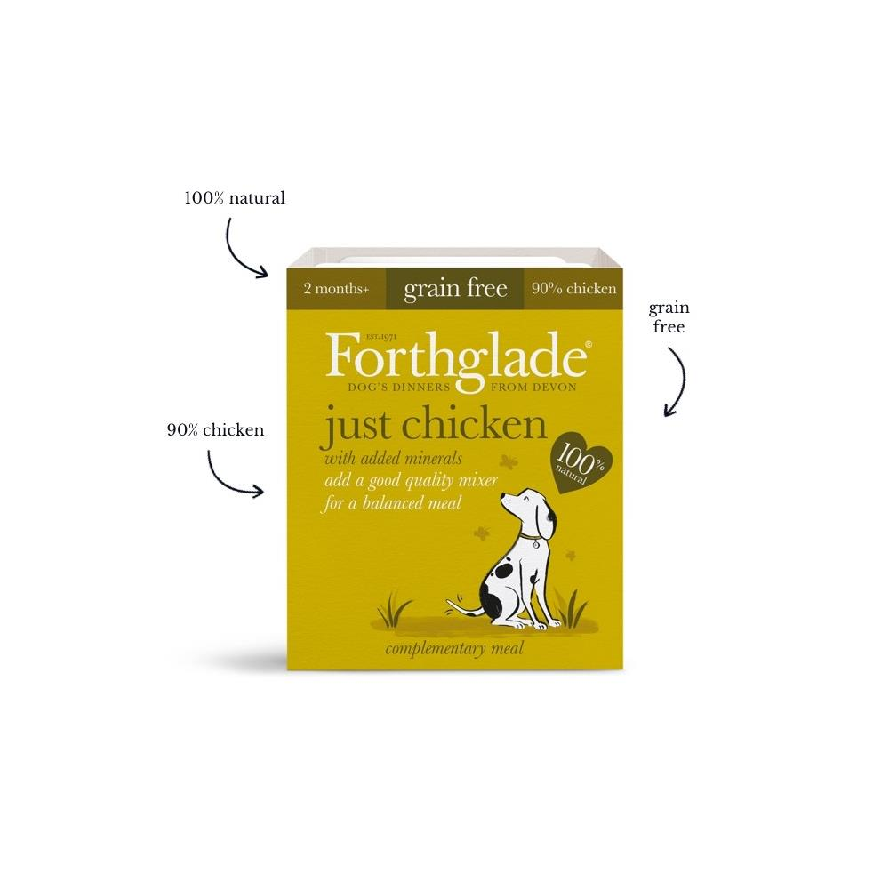 Forthglade Just chicken natural wet dog food (395g)