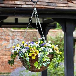 30Cm Easy Basket - Pansy