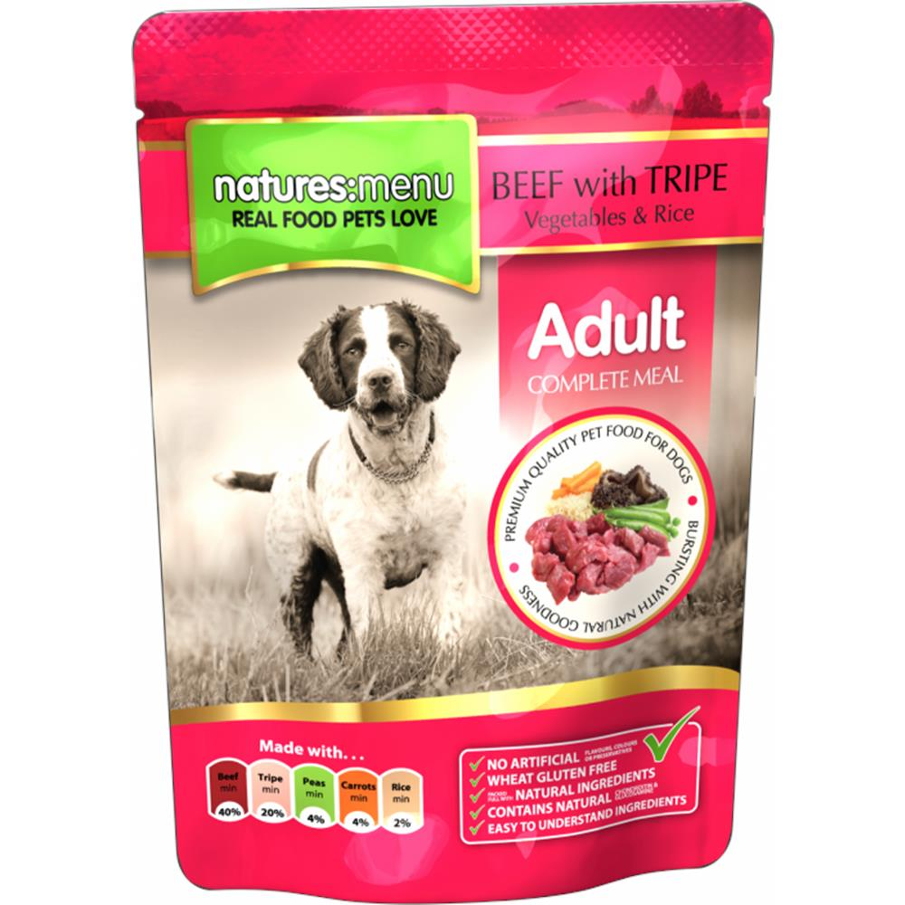 Adult - Beef & Tripe Dog Pouch 300G