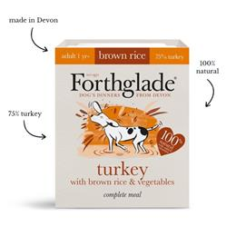 Forthglade Turkey with brown rice & vegetables natural wet dog food (395g)