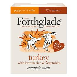 Forthglade Puppy Turkey with brown rice & vegetables natural wet dog food (395g)