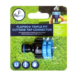 Flopro + Triple Fit Outside Tap Connector