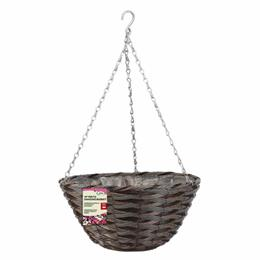 14in Pinto Faux Rattan Hanging Basket