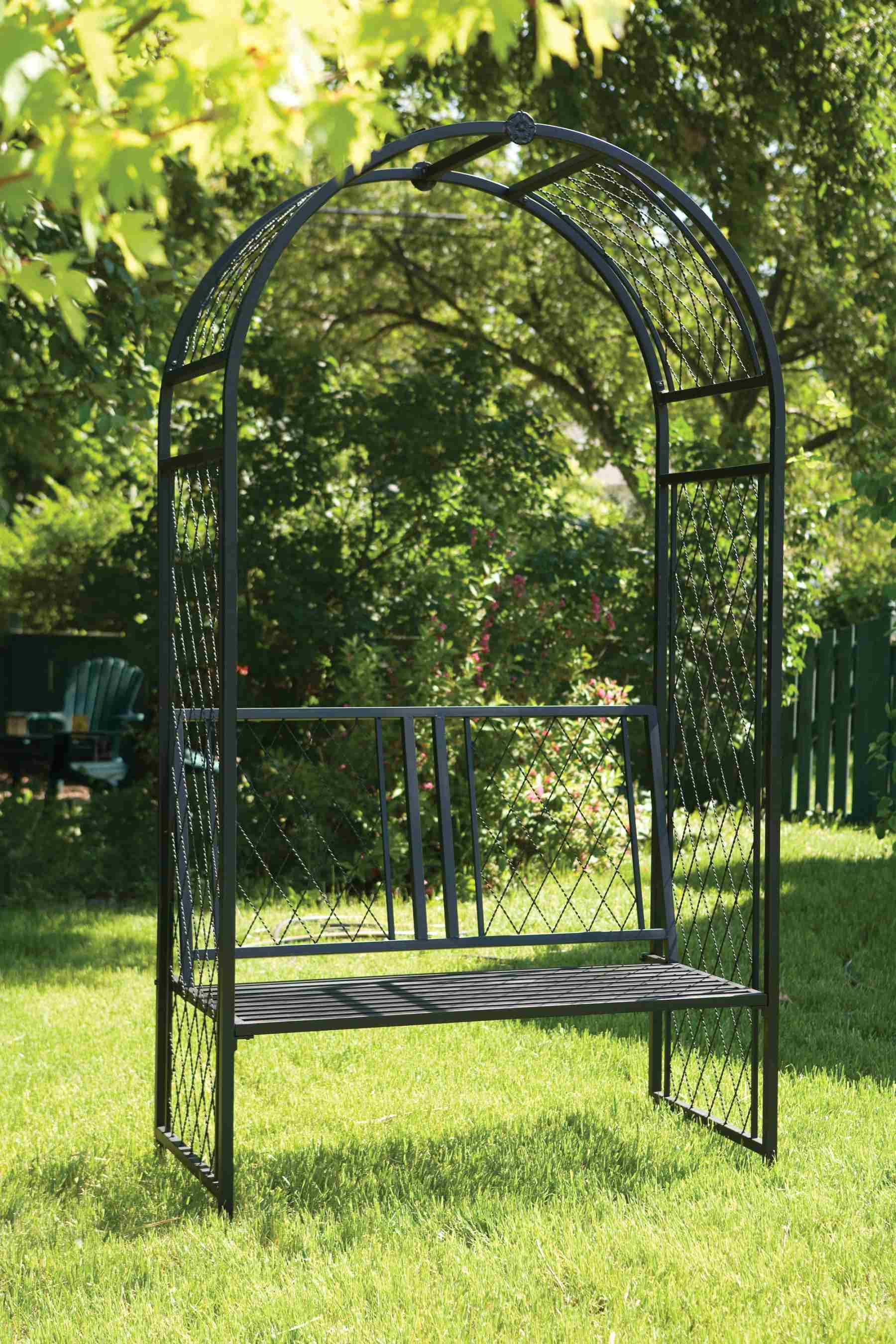 Lattice Arch with Bench - Black SAVE £100