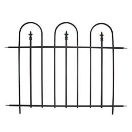 Triple Arch Finial Fence Section, Black. H92 X W121cm