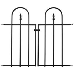 Triple Arch Finial Gate, Black. H92 X W92cm