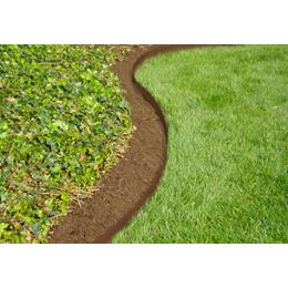 13 x 91cm Scalloped Top Landscape Edging Section - Bronze BUY 3 FOR £24