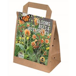 BLOOMS, BEES & BUTTERFLIES SALMON- ORANGE