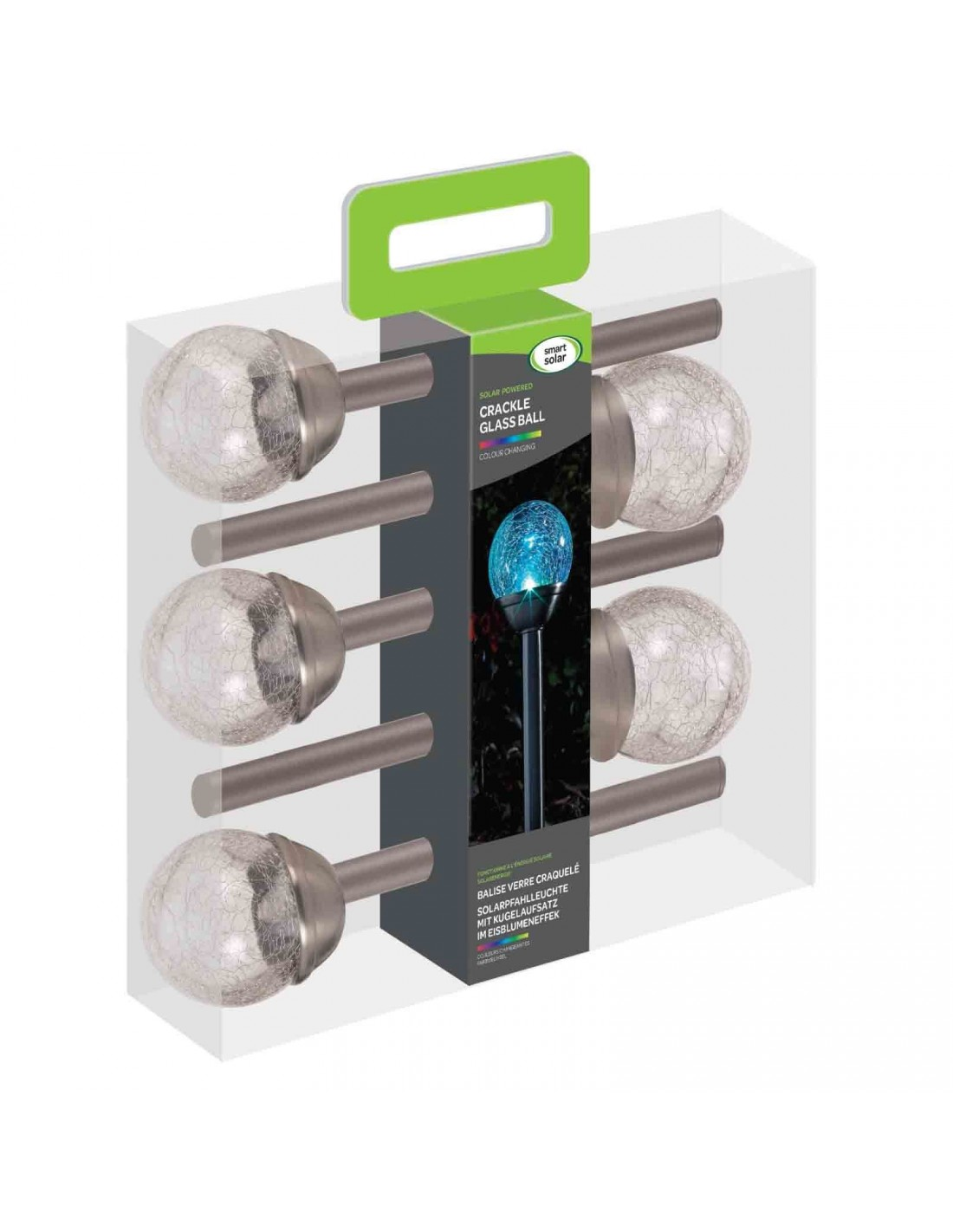 Crackle Globe - Stainless Steel 5pc Carry Pack Display