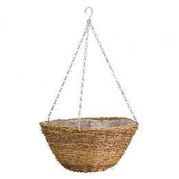 14in Country Rattan Hanging Basket