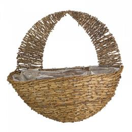 16in Country Rattan Wall Basket