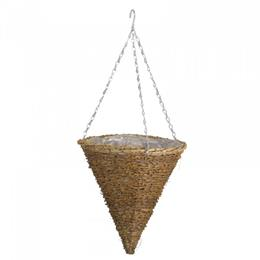 12in Country Rattan Hanging Cone