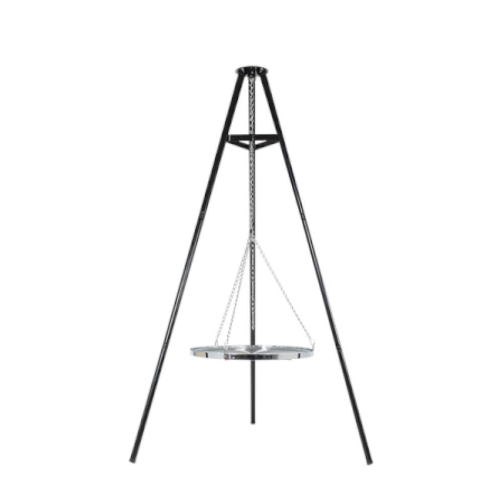 Tripod With Hanging Grill Fire Pit