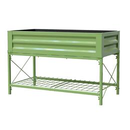 PROMO Stand Up Metal Raised Garden Planter with liner, Moss Green SAVE £50