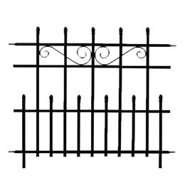 PROMO Mini Kensington Finial Fence - Black H76 x W93cm