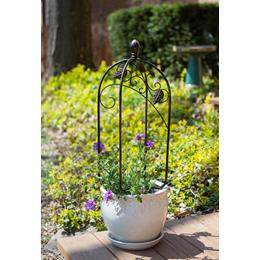 Scroll & Ivy Mini Pot Trellis Bronze
