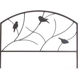 Perching Birds Garden Edge - Black. H45 x W60cm