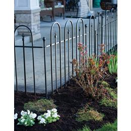 Triple Arch Garden Edge - Black. H78 x W60cm
