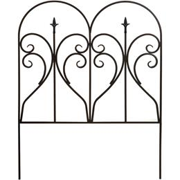 Scroll & Finial Garden Edge -  Black. H78 x W60cm