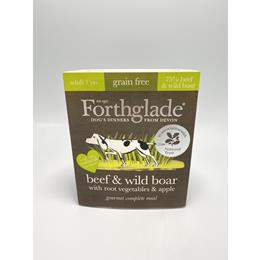 Forthglade Gourmet Beef & Wild Boar with Root Veg & Apple Wet Dog Food