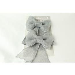 Glitter Hessian Bow