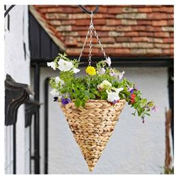 35cm (14'') Faux Hyacinth Hanging Cone