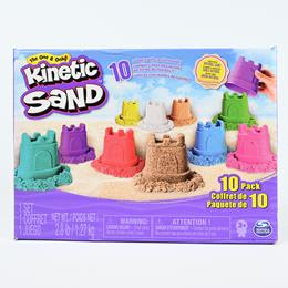 Kinetic sand 10 pack with castle moulds