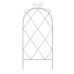 91cm French Country Scroll Pot Trellis, Distressed White - 6/cs.