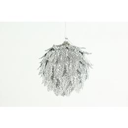 Silver Leaf Bauble