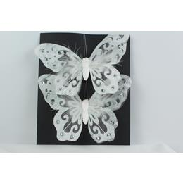 Set of 2 Butterflys White