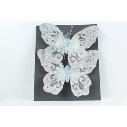 Set of 2 Butterflys Aqua