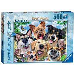 Selfies Dogs' Delight, 500pc