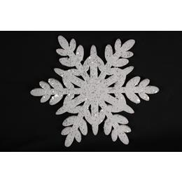 White glitter snow flake 30cm