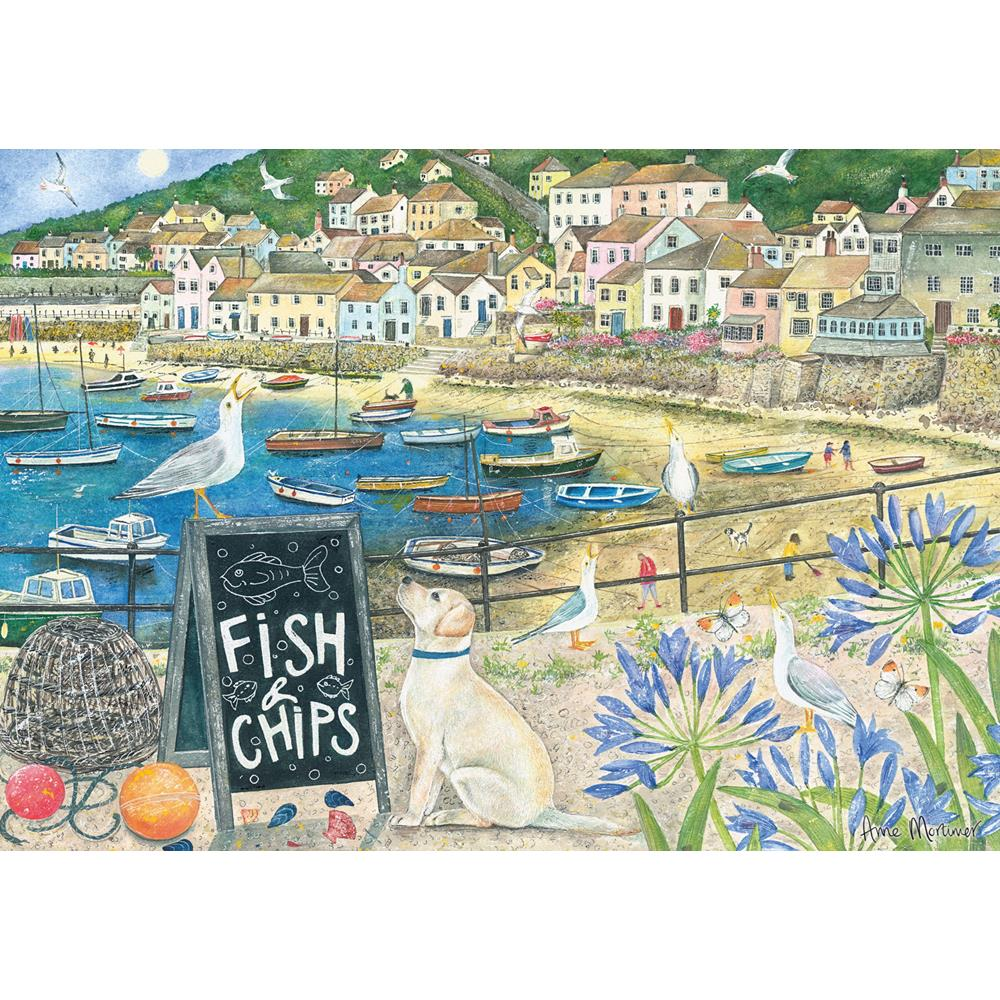 JIGSAW PUZZLE - FISH  N  CHIPS 1000 PIECES
