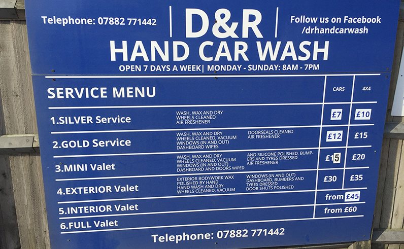 D R Hand Carwash Polhill Garden Centrepolhill Garden Centre
